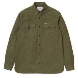 le plus populaire check-out bonne vente Carhartt homme   Chemise épaisse vert kaki avec poches