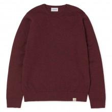 Carhartt - Pull en laine fin bordeaux