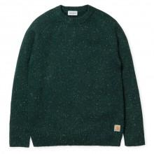 Carhartt - Pull en laine vert moucheté