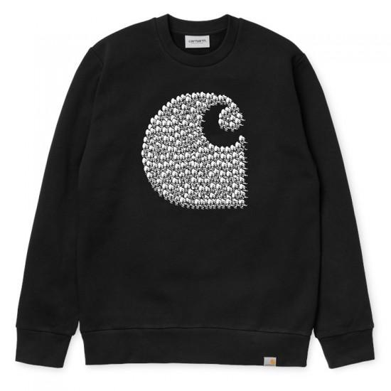 Carhartt - Sweat Logo noir Carhartt avec canards