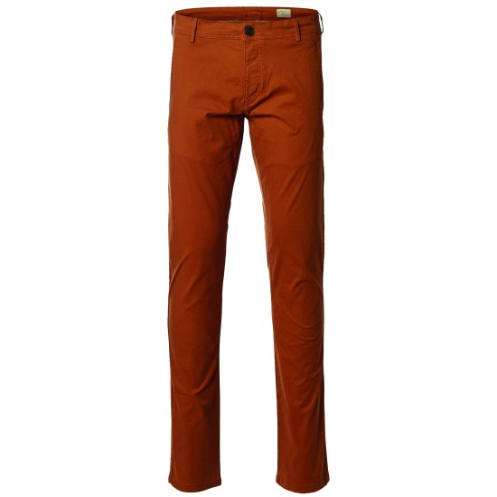 Selected homme - Pantalon chino gingembre skinny