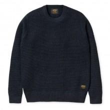 Carhartt - Pull en laine bleu marine