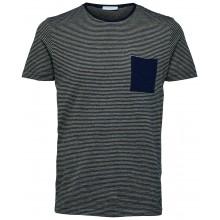 Selected homme - T-shirt rayé avec poche
