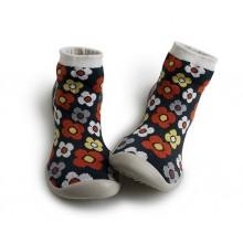 Le Collégien - Chausson Chaussette motif fleurs