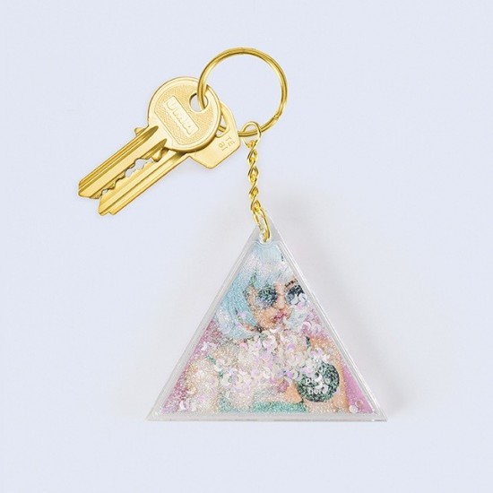 DOIY - Porte clef photo paillettes blanches