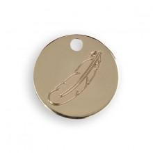 Le Bijou de Mimi - Médaille plume or
