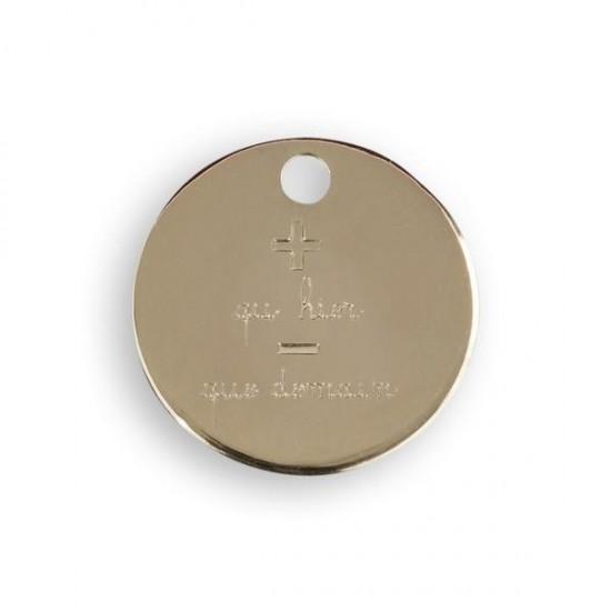 Le Bijou de Mimi - Médaille coeur fléché or