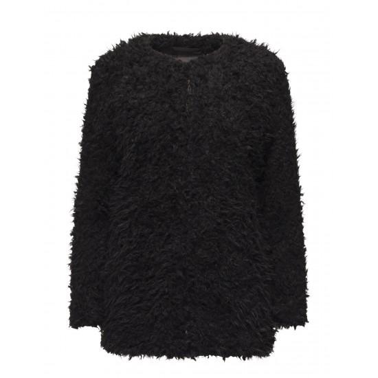 Ichi - Manteau femme style mouton noir