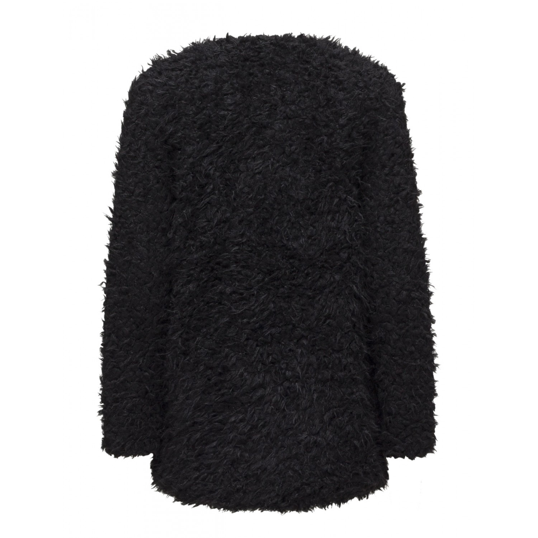 Super Ichi | Manteau mouton noir pour femme FI74