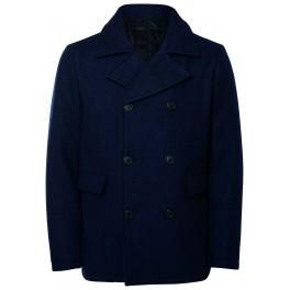 5ad3d8632774a Selected   Manteau bleu marine en laine