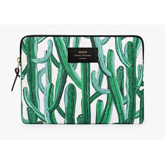 Woouf - Housse motif cactus pour tablette et iPad