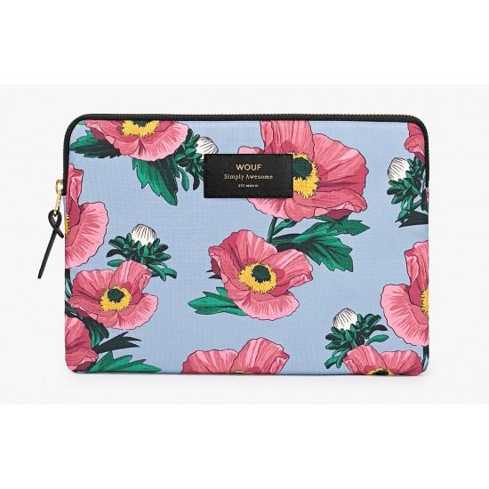 Woouf - Housse motif fleurs pour tablette et iPad