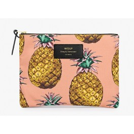 Woouf - Pochette large imprimé ananas