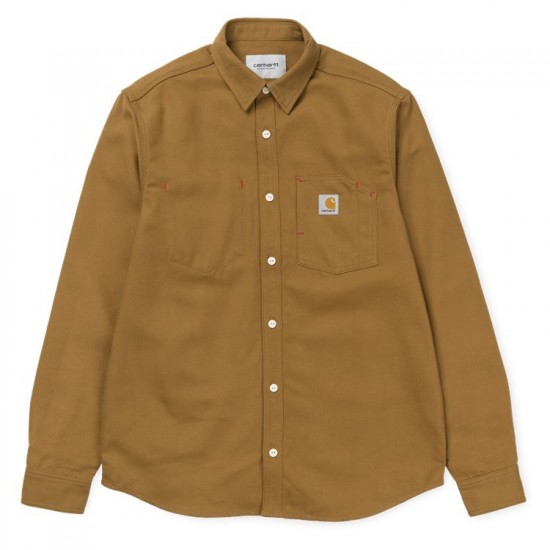 Carhartt - Chemise épaisse marron style veste
