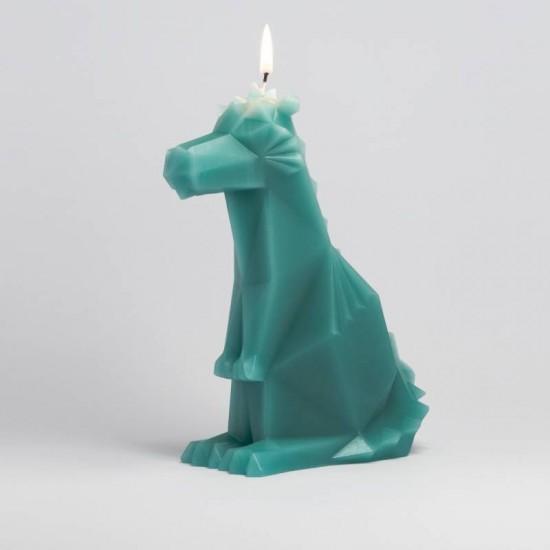 Pyropet - Bougie dragon squelette - vert