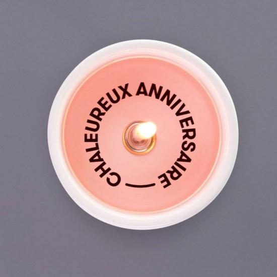 Pyropet - Bougie avec message secret : Chaleureux anniversaire