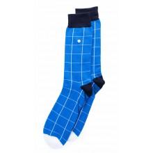 Alfredo Gonzales - Chaussette Blocks bleue