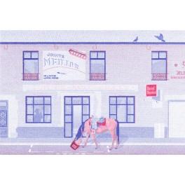 Marcel & Maurice x LUNI APE - Carte postale cheval