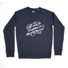 Marcel et Maurice - Sweat All I Want homme bleu marine