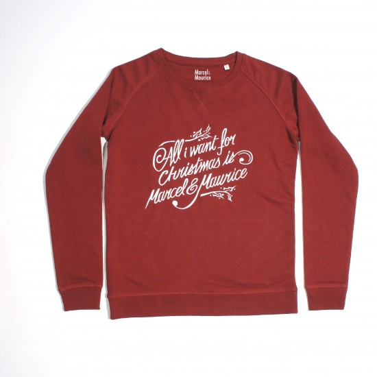 Marcel et Maurice - Sweat All I Want femme bordeaux