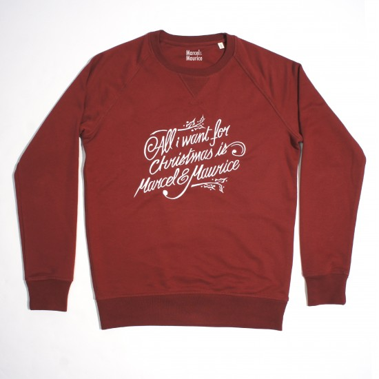 Marcel et Maurice - Sweat All I Want homme bordeaux