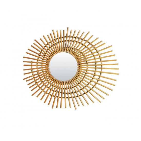 Bakker - Petit miroir en rotin spirale