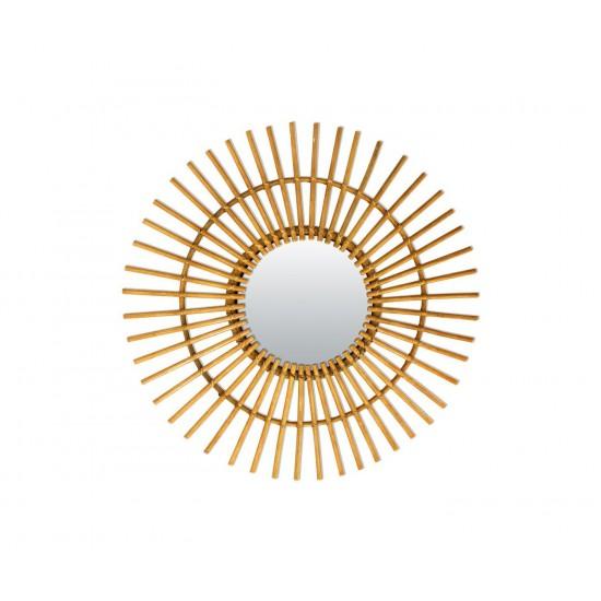 Bakker - Petit miroir en rotin soleil