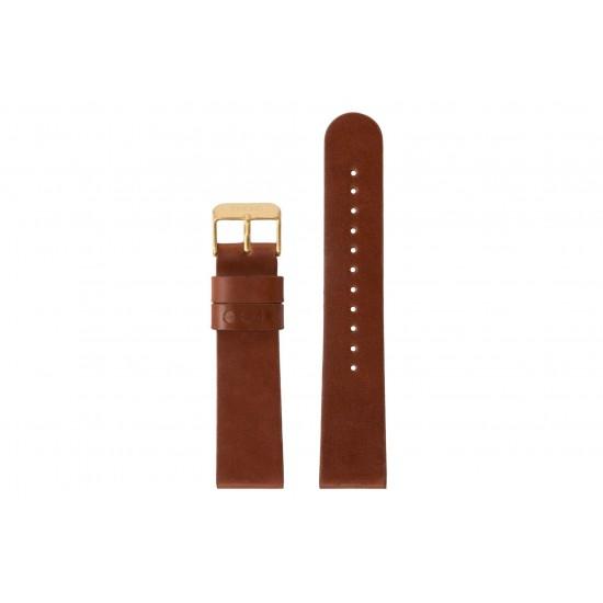 Komono - Bracelet montre Winston cognac/gold