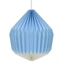 Wild & Wolf - Suspension luminaire en papier bleue