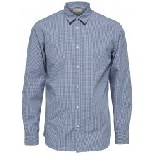 Selected homme - Chemise bleu style vichy