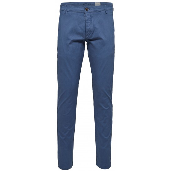 Selected homme - Pantalon chino bleu indigo