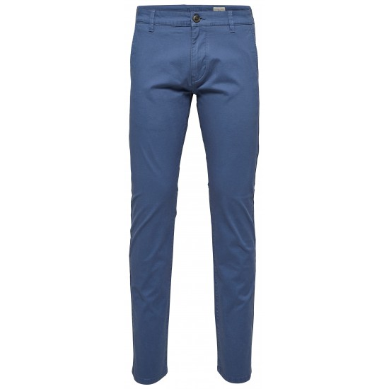 Selected homme - Pantalon chino bleu indigo