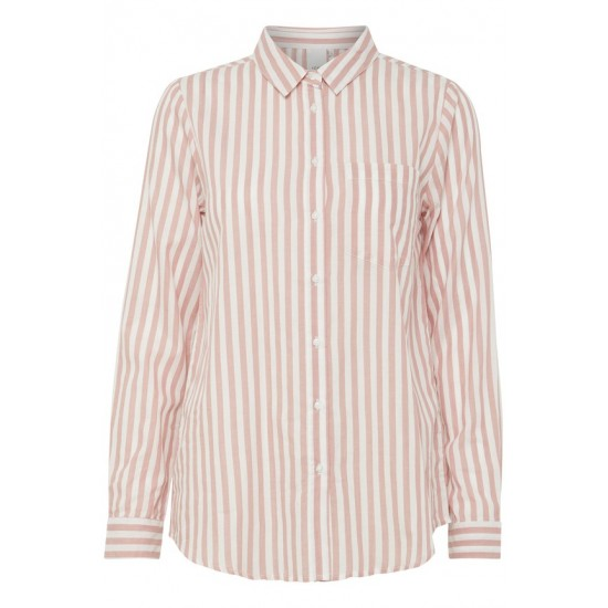 Ichi - Chemise rayée rose et blanche