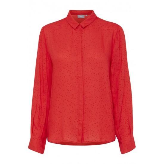 B.young - Chemise rouge avec motifs