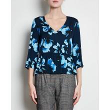 Minimum - Blouse bleue à motifs
