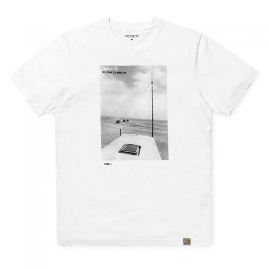 Carhartt WIP - T-shirt blanc avec photo
