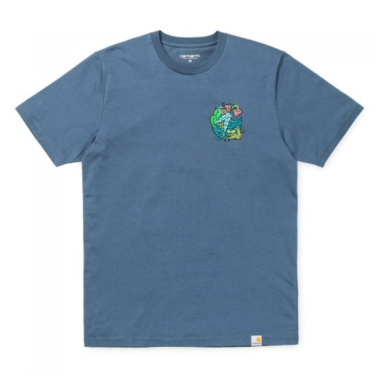 Carhartt WIP - T-shirt bleu in my jungle