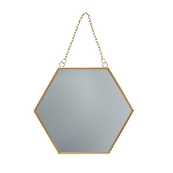Sass & Belle - Miroir hexagone à suspendre