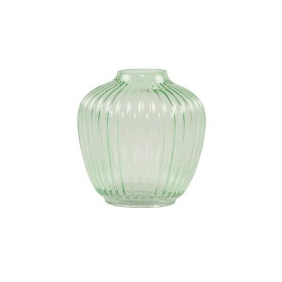 Sass & Belle - Vase rond vert transparent