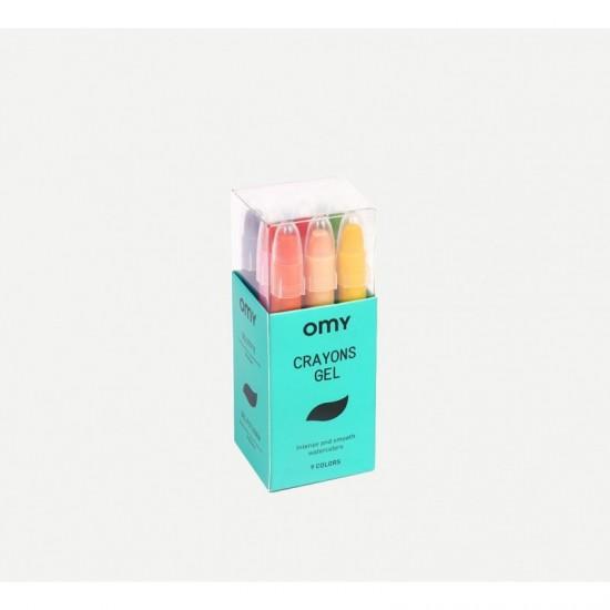 Omy - 9 crayons gel