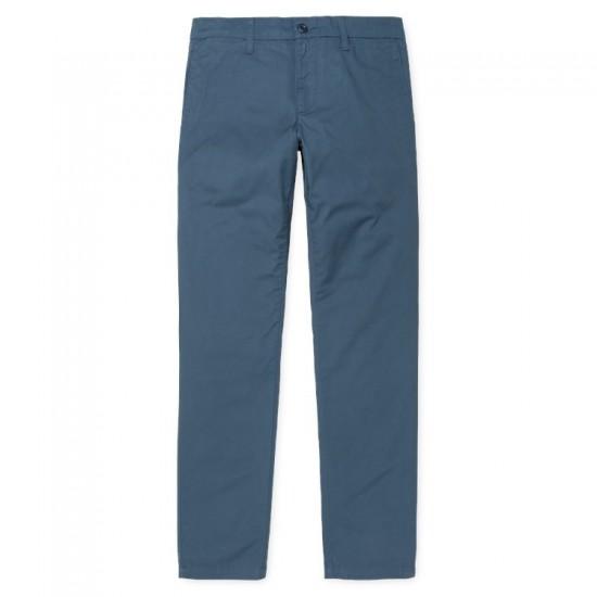 Carhartt WIP- Pantalon chino Sid Pant bleu