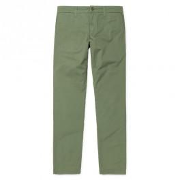 Carhartt WIP- Pantalon chino Sid Pant kaki