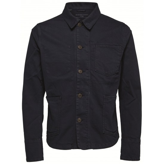 Selected - Veste en jean bleu marine
