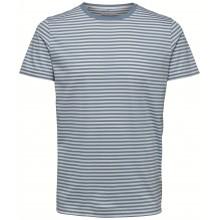 Selected homme - T-shirt marinière bleu ciel