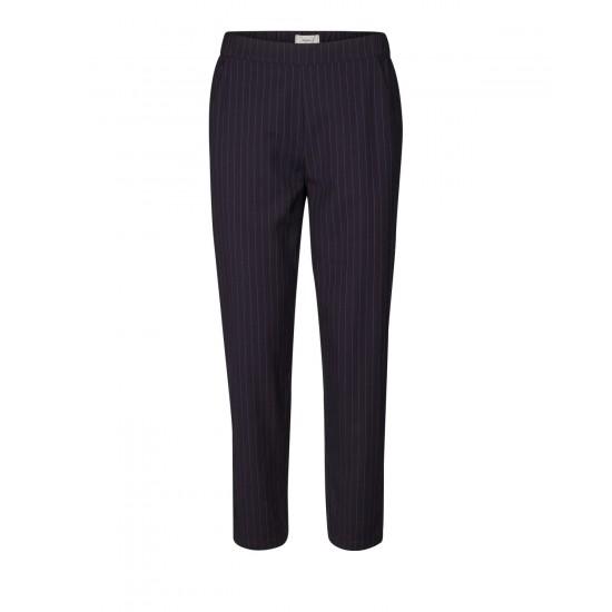 Minimum - Pantalon marine fluide à rayures