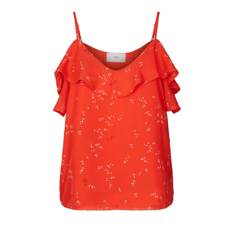 Minimum - Débardeur rouge à motifs. Loading zoom f632d55885d2