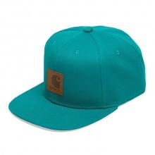 Carhartt WIP - Casquette bleue turquoise logo cap