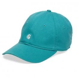 Carhartt WIP - Casquette bleu turquoise logo carhartt