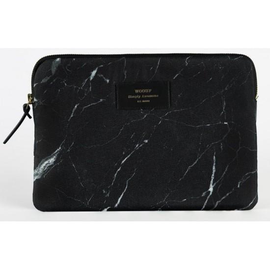 Woouf - Housse motif marbre noir pour tablette et iPad