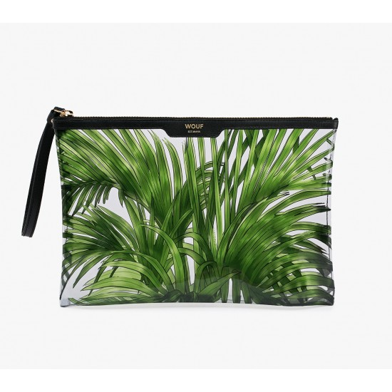 Woouf - Grand clutch imprimé tropicana